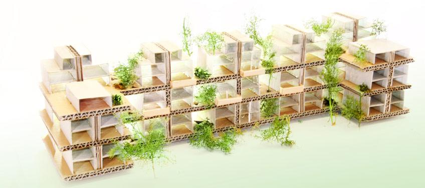 Gr ne stadthaus architektur aus t bingen mit gr ner wohnbebauung und individuellen stadth usern - Grune architektur ...